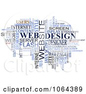 Clipart Web Design Word Collage Royalty Free Vector Illustration