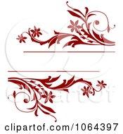 Clipart Red Vine Frame Royalty Free Vector Illustration