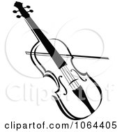 Clipart Violin In Black And White Royalty Free Vector Illustration