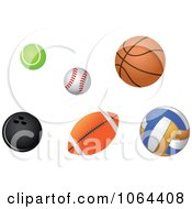 Clipart Sports Balls Digital Collage Royalty Free Vector Illustration by Vector Tradition SM