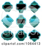 Clipart Blue Labels Digital Collage Royalty Free Vector Clip Art Illustration