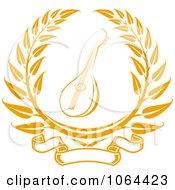 Clipart Banjo Laurel Royalty Free Vector Illustration