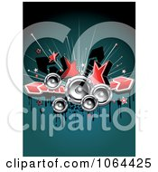 Clipart Stars Music Speakers Arrows And Grunge Royalty Free Vector Illustration
