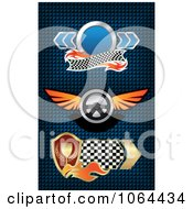 Clipart Auto Race Banners Digital Collage Royalty Free Vector Illustration