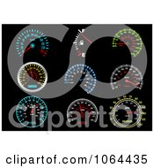 Clipart Speedometers Digital Collage Royalty Free Vector Illustration by Vector Tradition SM