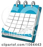 Clipart Desk Calendar Royalty Free Vector Illustration