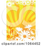 Clipart Orange Floral Background 9 Royalty Free Vector Illustration