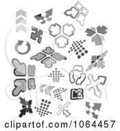 Clipart Gray Arrows Digital Collage Royalty Free Vector Illustration by Vector Tradition SM