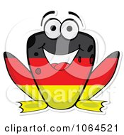 Clipart German Flag Frog Royalty Free Vector Illustration