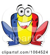 Clipart Romanian Flag Frog Royalty Free Vector Illustration by Andrei Marincas