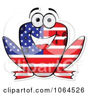 Clipart American Flag Frog Royalty Free Vector Illustration