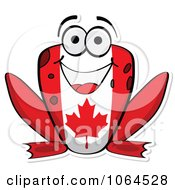 Clipart Canadian Flag Frog - Royalty Free Vector Illustration by Andrei Marincas #COLLC1064528-0167