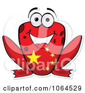 Clipart Chinese Flag Frog Royalty Free Vector Illustration