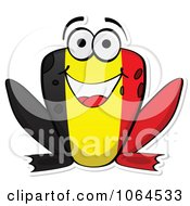 Clipart Belgium Flag Frog Royalty Free Vector Illustration
