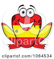 Clipart Spanish Flag Frog Royalty Free Vector Illustration