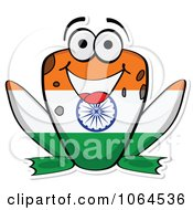 Clipart Indian Flag Frog Royalty Free Vector Illustration
