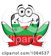 Clipart Bulgarian Flag Frog Royalty Free Vector Illustration by Andrei Marincas