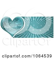 Clipart Blue Stone Heart Banner Royalty Free Vector Illustration