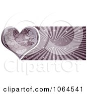 Clipart Purple Stone Heart Banner Royalty Free Vector Illustration