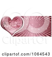 Clipart Pink Stone Heart Banner Royalty Free Vector Illustration by Andrei Marincas