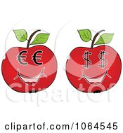 Clipart Red Currency Apples Royalty Free Vector Illustration