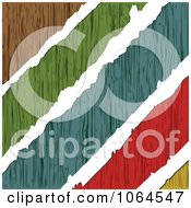 Clipart Torn Colorful Wood Grains Royalty Free Vector Illustration by Andrei Marincas