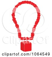 Clipart 3d Light Bulb Of Red Cubes Royalty Free Vector Illustration by Andrei Marincas
