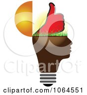 Clipart Thumbs Up Lightbulb Head Royalty Free Vector Illustration by Andrei Marincas