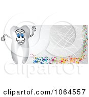 Clipart Tooth Banner Royalty Free Vector Illustration