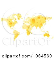 Clipart Cheese World Map Royalty Free Vector Illustration by Andrei Marincas