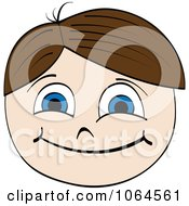 Clipart Happy Boy Face Royalty Free Vector Illustration