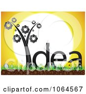 Clipart Black Idea Plant Against The Sun Royalty Free Vector Illustration by Andrei Marincas