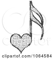 Clipart Heart Music Note Royalty Free Vector Illustration by Andrei Marincas