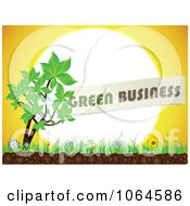 Clipart Green Business Plant Against The Sun Royalty Free Vector Illustration