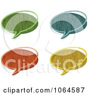 Clipart Colorful Wooden Chat Bubbles Royalty Free Vector Illustration