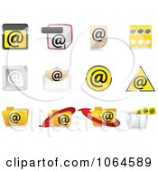 Clipart 3d Email Icons Royalty Free Vector Illustration