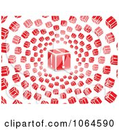 Clipart Vortex Of 3d Exclamation Point Boxes Royalty Free Vector Illustration