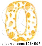Clipart Scribbled Cheese Zero Royalty Free Vector Illustration by Andrei Marincas