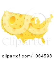 Clipart American Cheese Map Royalty Free Vector Illustration by Andrei Marincas