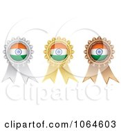 Clipart 3d Indian Medal Rosettes Royalty Free Vector Illustration
