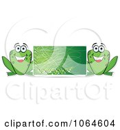 Clipart Green Frog Banner Royalty Free Vector Illustration by Andrei Marincas