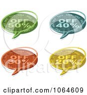 Clipart Colorful Wooden Sale Chat Bubbles Royalty Free Vector Illustration