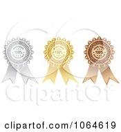 Clipart 3d Money Back Guarantee Medal Rosettes Royalty Free Vector Illustration