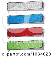 Clipart Colorful Scribble Banners Royalty Free Vector Illustration by Andrei Marincas