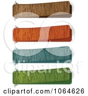 Clipart Colorful Wooden Banners Royalty Free Vector Illustration by Andrei Marincas