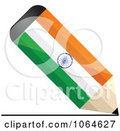 Clipart 3d Writing Indian Flag Pencil Royalty Free Vector Illustration by Andrei Marincas