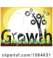 Clipart Black Growth Plant Against The Sun Royalty Free Vector Illustration by Andrei Marincas