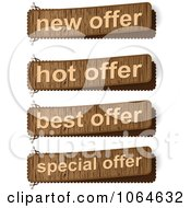 Clipart Wooden Offer Sales Banners Royalty Free Vector Illustration