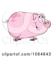 Clipart Smiling Piggy Royalty Free Vector Illustration by Hit Toon