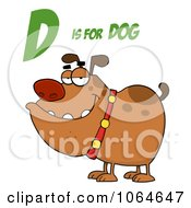 Clipart Bulldog Under D Is For Dog Royalty Free Vector Illustration